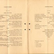 Image of Program,  Commencement, 1901