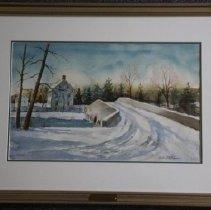 Image of 2000.02.28.7 - Winter Scene with Bridge