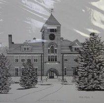 Image of 2003.03.09.7 - Print:  Sturtevant Hall, Hebron Academy, 13/100,