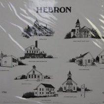 Image of 2004.09.05.7 - Print:  Hebron, Maine Bicentennial (sampler), 1/15,