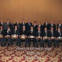 Image of Grand Lodge officers 2010-2011 - 2012.10.90