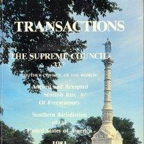 Image of Supreme Council - Freemasonry--Yearbook--Scottish rite