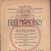 Image of Masonic History Company - Freemasonry--History Prestonian Theory Hutchinson Theory