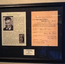 Image of Will Rogers Masonic Petition - 2012.11.366