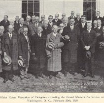 Image of Grand Masters Conference 1929 at the White House - 2012.12.306