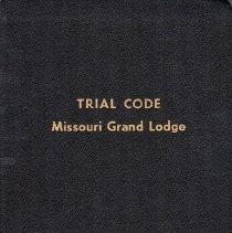 Image of Grand Lodge of Missouri - Jurisprudence--Missouri Trial Code