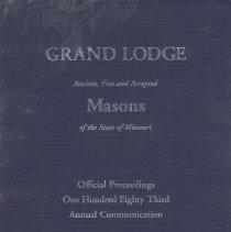 Image of Grand Lodge of Missouri - Freemasonry--History--Missouri Thompson, Stanley M., GM 1957-