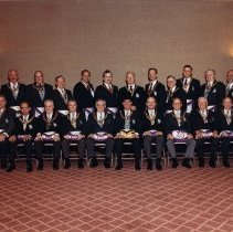 Image of Grand Lodge officers 1989-1990 - 2012.8.303