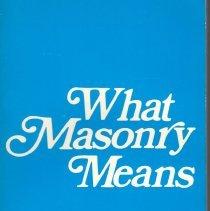 Image of Macoy Publishing Co - Freemasonry--Miscellany Freemasonry--Alms and Ideals Freemasonry--Philosophy and teaching Freemasonry--Definition