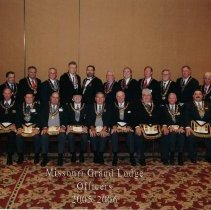 Image of Grand Lodge Officers 2005-2006 - 2012.9.37