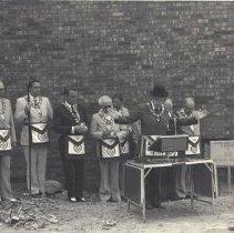 Image of Cornerstone Ceremony, Grand Lodge Office 1979 - 2012.9.8