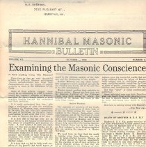 Image of Hannibal Masonic Bulletin Oct 1030