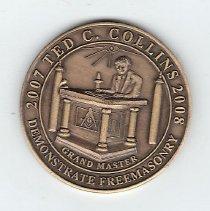 Image of Grand Lodge of Georgia GM Coin 2007 - 2013.1.148