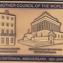 Image of Bicentennial plaque AASR 1801-2001 - 2013.1.157