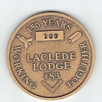 Image of 150th Anniversary Coin Laclede Lodge #83 - 2013.1.186