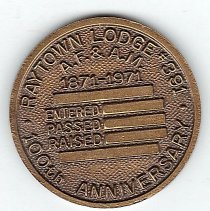 Image of Raytown Lodge # 391 100th Anniversary Coin - 2013.1.191