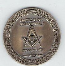 Image of Grand Lodge of Washington 150th Anniversary Coin - 2013.1.193