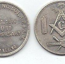 Image of Buckner Lodge # 501 Centennial Anniv Coin  - 2013.1.195