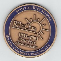 Image of AASR SJ Rite Care Anniversary Coin 2003 - 2013.1.206