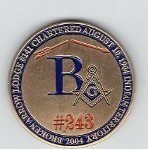 Image of 100th Anniversary Coin Broken Arrow Lodge #243 Oklahoma - 2013.1.214