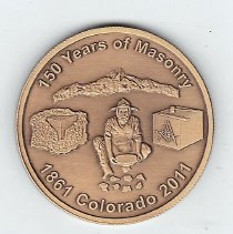 Image of 150th Anniversary Coin Grand Lodge of Colorado 1861-2011 - 2013.1.215