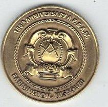 Image of 160th Anniversary Coin Farmington Lodge # 132 - 2013.1.218