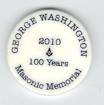 Image of George Washington National Masonic Memorial 100th Anniv Coin - 2013.1.221
