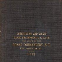 Image of Woodward & Tiernan - Constitutions, codes, digests Knights Templar--Missouri