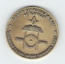 Image of Grand Lodge of Kansas 150th Anniversary Coin - 2013.2.237