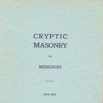 Image of n.p. - Royal and Select masters--History--Missouri Freemasonry--History--Missouri