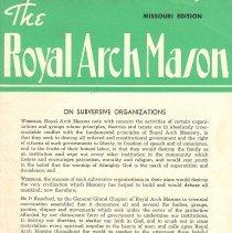 Image of General Grand Chapter RAM - Freemasonry--Royal Arch Freemasonry--History--Civil War