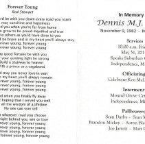 Image of Dennis M.J. Willett Funeral Card - 2013.6.18