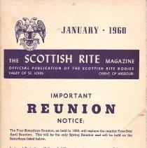 Image of Scottish Rite Magazine St Louis January 1960