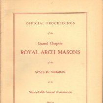 Image of Grand Chapter RAM Missouri - Royal Arch--History--Missouri