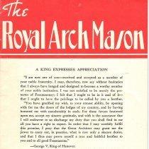Image of General Grand Chapter RAM - Freemasonry--Royal Arch George V, King of Hanover