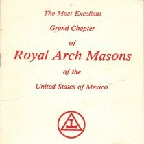 Image of Grand Chapter RAM Mexico - Royal arch--History--Mexico