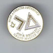 Image of Grand Master Jon Broyles Label Pin 2014