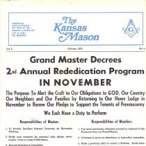 Image of The Kansas Mason October 1972