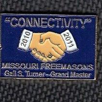Image of Grand Master Gail Turner label pin - 2014,2,168