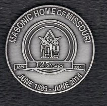 Image of Masonic Home 125th Anniversary Coin - 2014.2.195