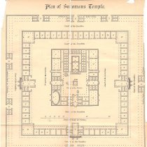 Image of Map of the Ground floor of King Soloman's Temple - 2014.2.199