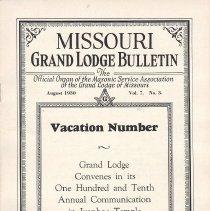 Image of Grand Lodge of Missouri - Freemasonry--History--Missouri Lodge--History--England--Quator Coronati