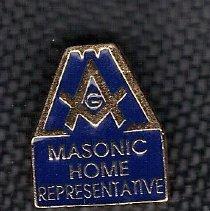 Image of Masonic Home Representative pin - 2014.3.111