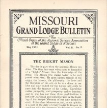 Image of Grand Lodge of Missouri - Freemasonry--History--Missouri