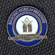 Image of Masonic Home 125th Anniversary Pin - 2014.3.70