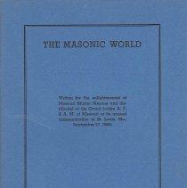 Image of Grand Lodge of Missouri - Freemasonry--History Fraternial Correspondence