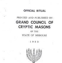 Image of Grand Council of Missouri - Royal and Select Master--Ritual