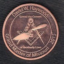 Image of Grand Master Haywood Coin 2015