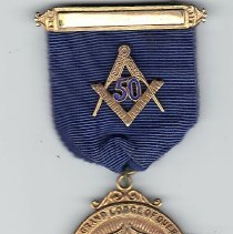 Image of 50 year jewel, Grand Lodge of Quebec - 2014.11.119