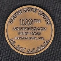 Image of 100th Anniversary Coin South Gate Lodge No 547 - 2014.11.47